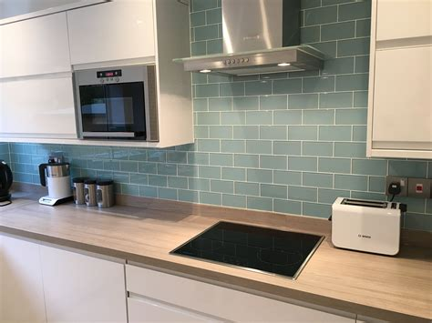 Best Backsplash Tile For Kitchen by Glass Metro Tiles Uk In 2019 Home Kitchen Splashback