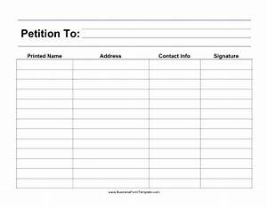 large print petition template With signature petition template