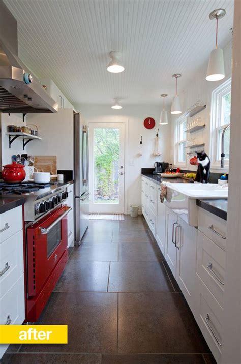 narrow galley kitchen best 20 galley kitchen redo ideas on 1032
