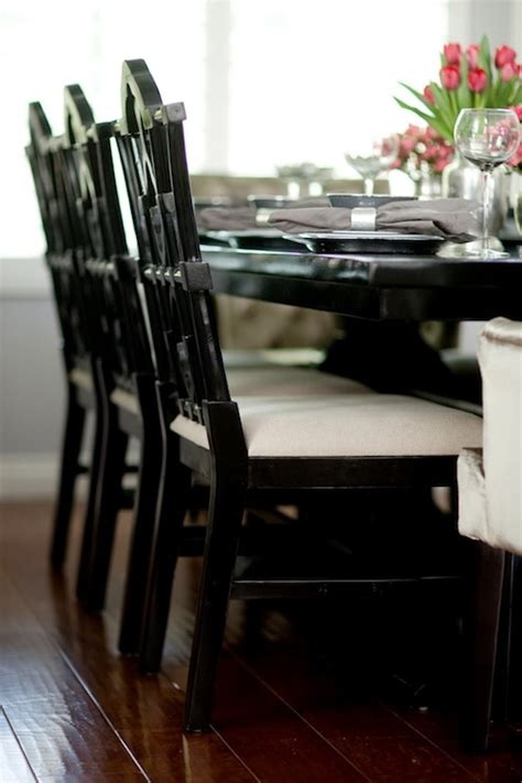 black distressed table and chairs black dining chairs design ideas