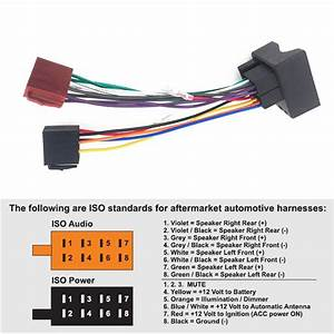 Car Stereo Iso Radio Wiring Harness Headunit Connector Loom Wiring Wire Cable Adapter For Ford