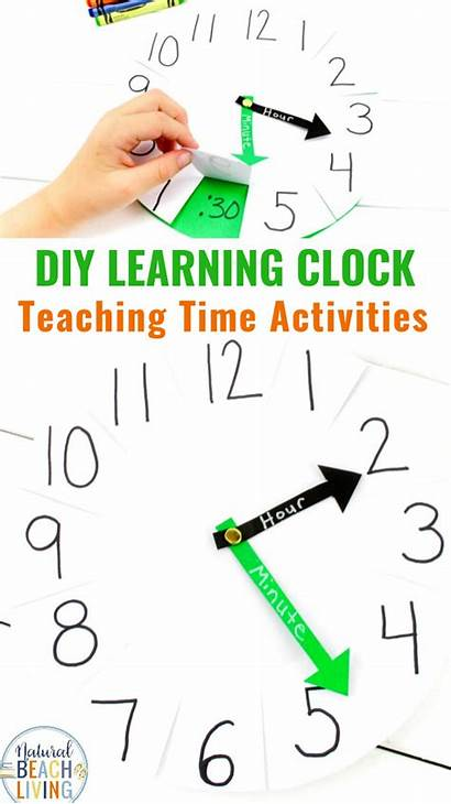 Clock Telling Diy Teach Paper Activity Learning