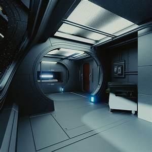 Spaceship Interior C HD 3D Model .obj .fbx .blend ...