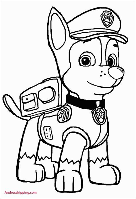 excellent picture  chase paw patrol coloring page entitlementtrapcom paw patrol