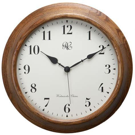 River City Clocks Oak Post Office Chiming Wall Clock 7100o