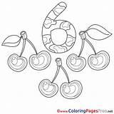 Cherries Coloring sketch template