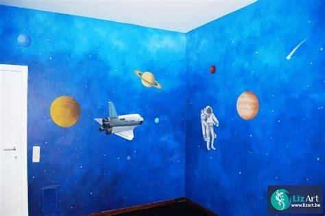 accessoires kinderkamer planeten muurschildering planeten in de ruimte muurschilderingen