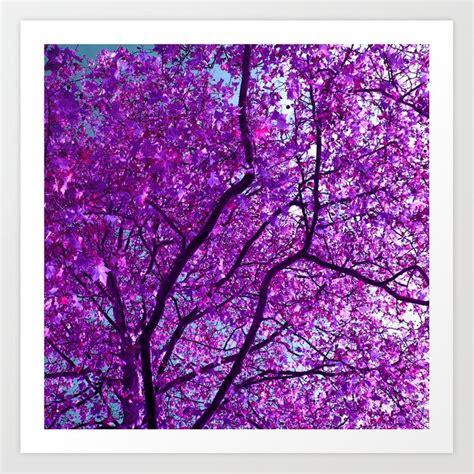 Purple Tree Xxxi Art Print By Blackpool Society6