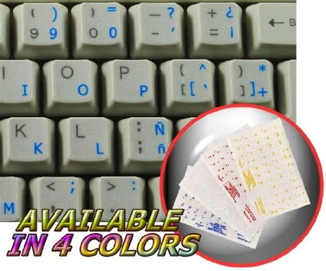 Spanish (traditional) Keyboard Stickers
