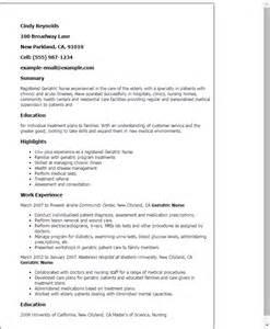 geriatric practitioner resume professional geriatric templates to showcase your