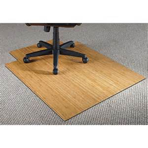 realspace bamboo chair mat 36 w x 48 d 316 thick natural