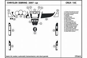 2008 Chrysler Sebring Dash Kits