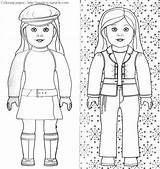 Coloring American Doll Pages Miracle Timeless sketch template