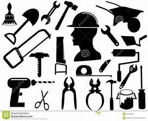 94 Outil De Bricolage : silhouettes d 39 outil de bricolage images libres de droits ~ Dailycaller-alerts.com Idées de Décoration