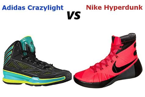 adidas crazylight  nike hyperdunk review specification