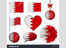 Bahrain Flag Set 8 Items Vector Stock Vector 254667496