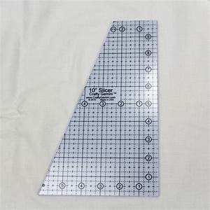 10quot slicer quilting ruler template crafty gemini With quilters rulers and templates