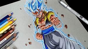 Anime Art - Drawing GOGETA Ssj Blue | DBS Broly - YouTube