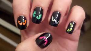 Simple nail art for halloween zebra stripes pictures to pin on