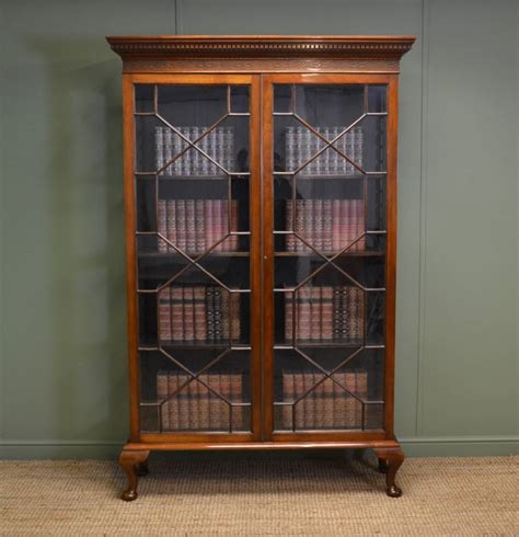 Antique Bookcases Uk by Walnut Antique Glazed Bookcase Antiques World