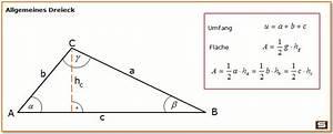 Trigonometrie Seiten Berechnen : fl chenberechnung dreieck und umfang dreieck bildung ~ Themetempest.com Abrechnung