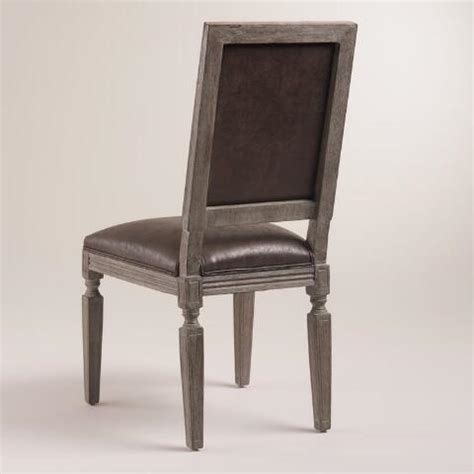 brown bonded leather curtis dining chairs set of 2