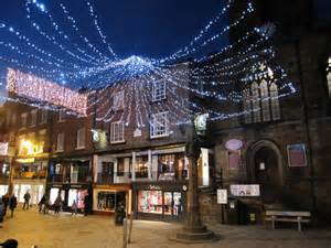 chester cross and its christmas lights 169 john s turner cc