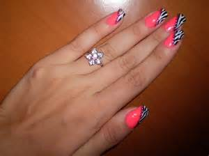 Pink zebra nail art gallery