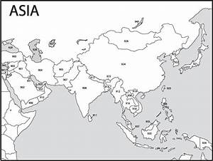 Image Gallery outline map of asia