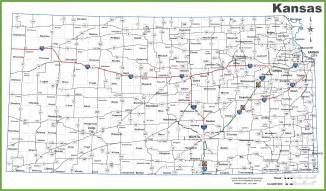 Kansas Highway Map with Cities