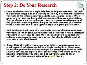 Step In Writing A Research Paper  8 Steps To Help You In