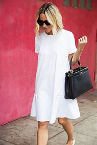 Simple Casual White Dress