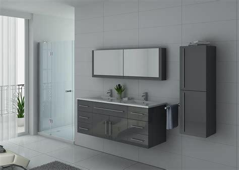 meuble sous vasque gris pour salle de bain meuble sous vasque gris dis749gt salledebain