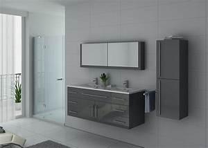 Meuble De Salle De Bain Double Vasque : meuble de salle de bain double vasque gris meuble sous vasque double dis749sc ~ Teatrodelosmanantiales.com Idées de Décoration