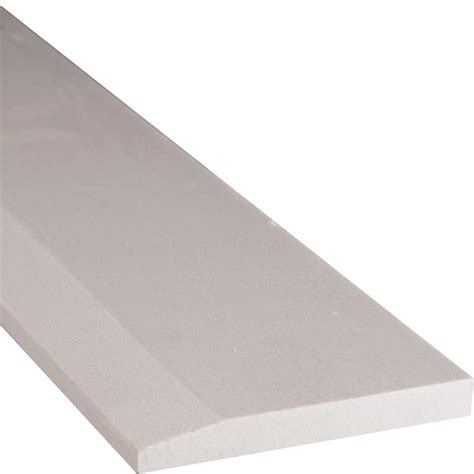 home depot flooring threshold ms international white hollywood style 5 in x 30 in engineered marble threshold floor and wall