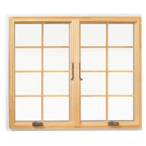andersen       series casement wood window  white exterior  colonial