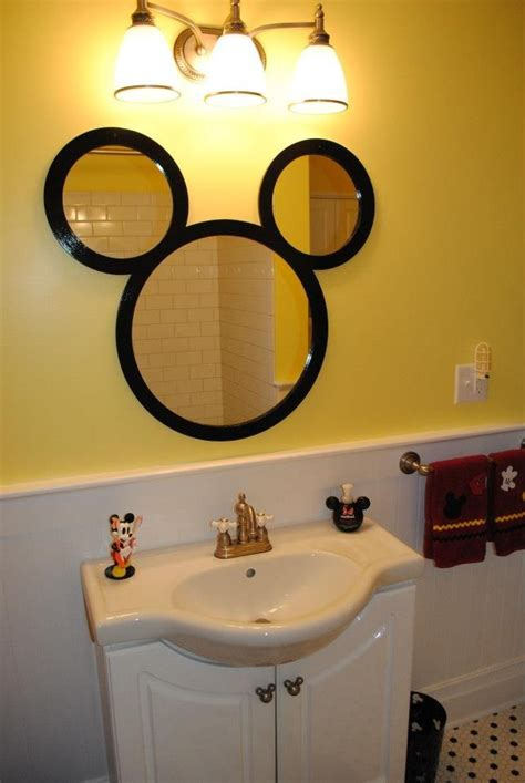 interesting mickey mouse bathroom mirror photo ideas