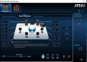 Realtek HD Audio Manager 7.1 Surround Sound Not Working ...