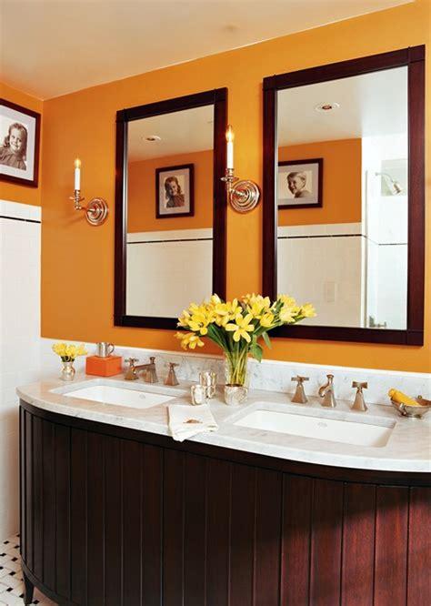 Orange Bathroom Wall Decor by New Home Interior Design Decorating Gallery Bathrooms