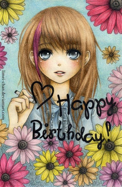 Anime Birthday Wallpaper - happy birthday anime anime happy birthday cards the