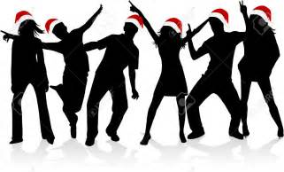 Christmas Party Dancing Silhouette