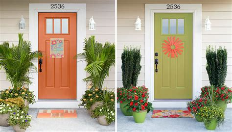 simple  gorgeous front door transformations