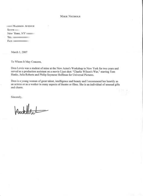 letter  recommendation templates word template business