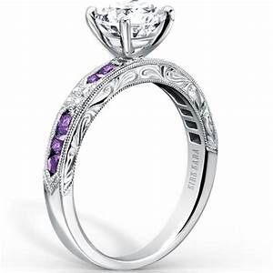 kirk kara quotcharlottequot purple amethyst diamond engagement ring With purple diamond wedding ring