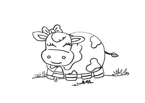 Cute Cartoon Baby Cow Coloring Pages Sketch Coloring Page