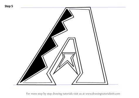 learn   draw arizona diamondbacks logo mlb step  step drawing tutorials