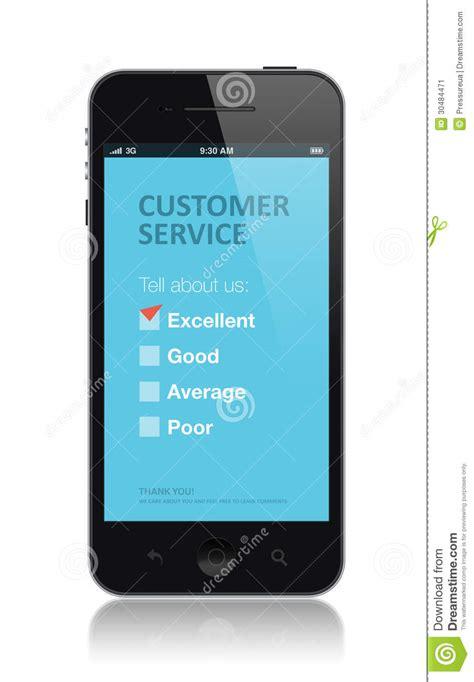 cell phone customer service customer service survey application stock image image