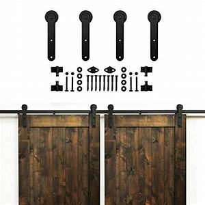 Hahaemall ship from us country design exterior sliding for Barn doors and hardware reviews