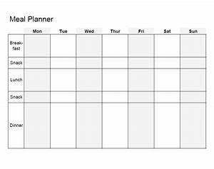 40 weekly meal planning templates template lab for Two week meal plan template