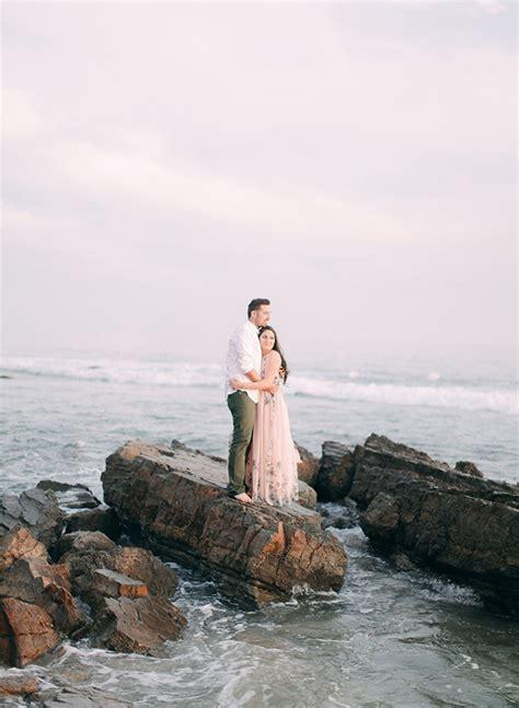 blush beach engagement  inspired